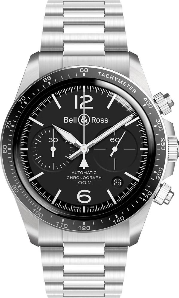 Bell & Ross-BR-V2-94-Black-STEEL - Omega Speedmaster Alternative