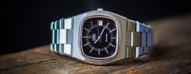 Omega Seamaster Quartz Vintage Uhr TV Dial