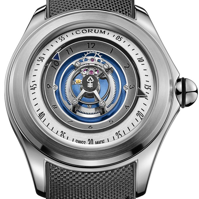 Corum 2018 - Bubble 47mm - Central Tourbillon Titan, Automatik 406.101.04/0601 SW01 L406/03664 78.100 €