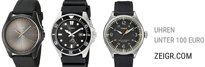 Uhren unter 100 Euro amazon Tipps