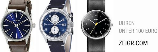 Uhren bis 100 Euro - Seiko, Braun, Spinnaker