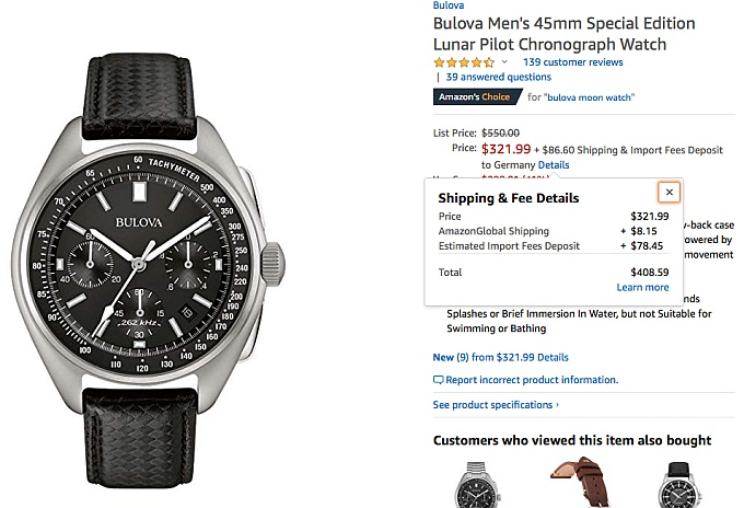 Bulova Moonwatch amazon