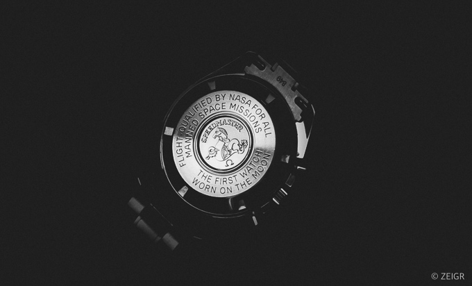 Omega Speedmaster Gehäuseboden- First Man on the Moon NASA