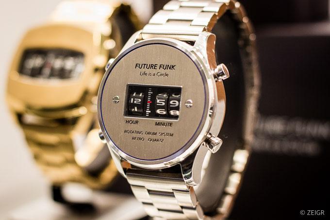 Future Funk silber - Neue Uhren für Nerds & Geeks - Baselworld 2019