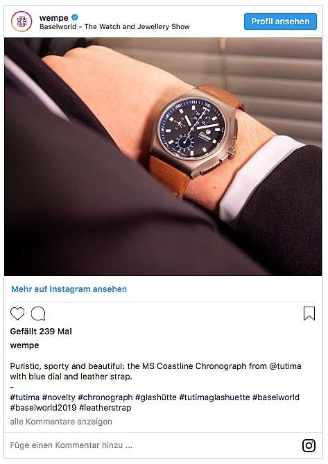 Tutima M2 Coast Line Chronograph -Wempe - Baselworld 2019