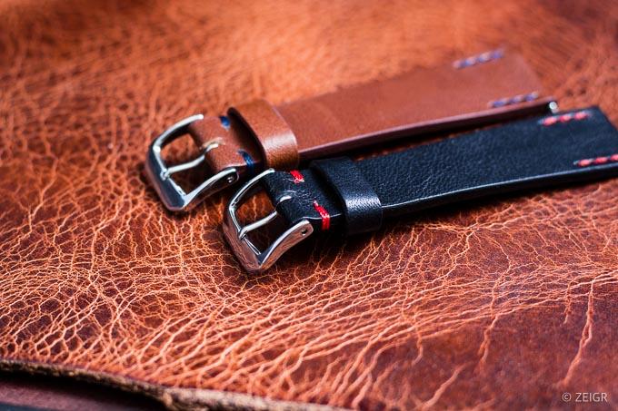 ZEIGR Uhrenarmbänder 20mm Leder Vintage Schlaufe-2