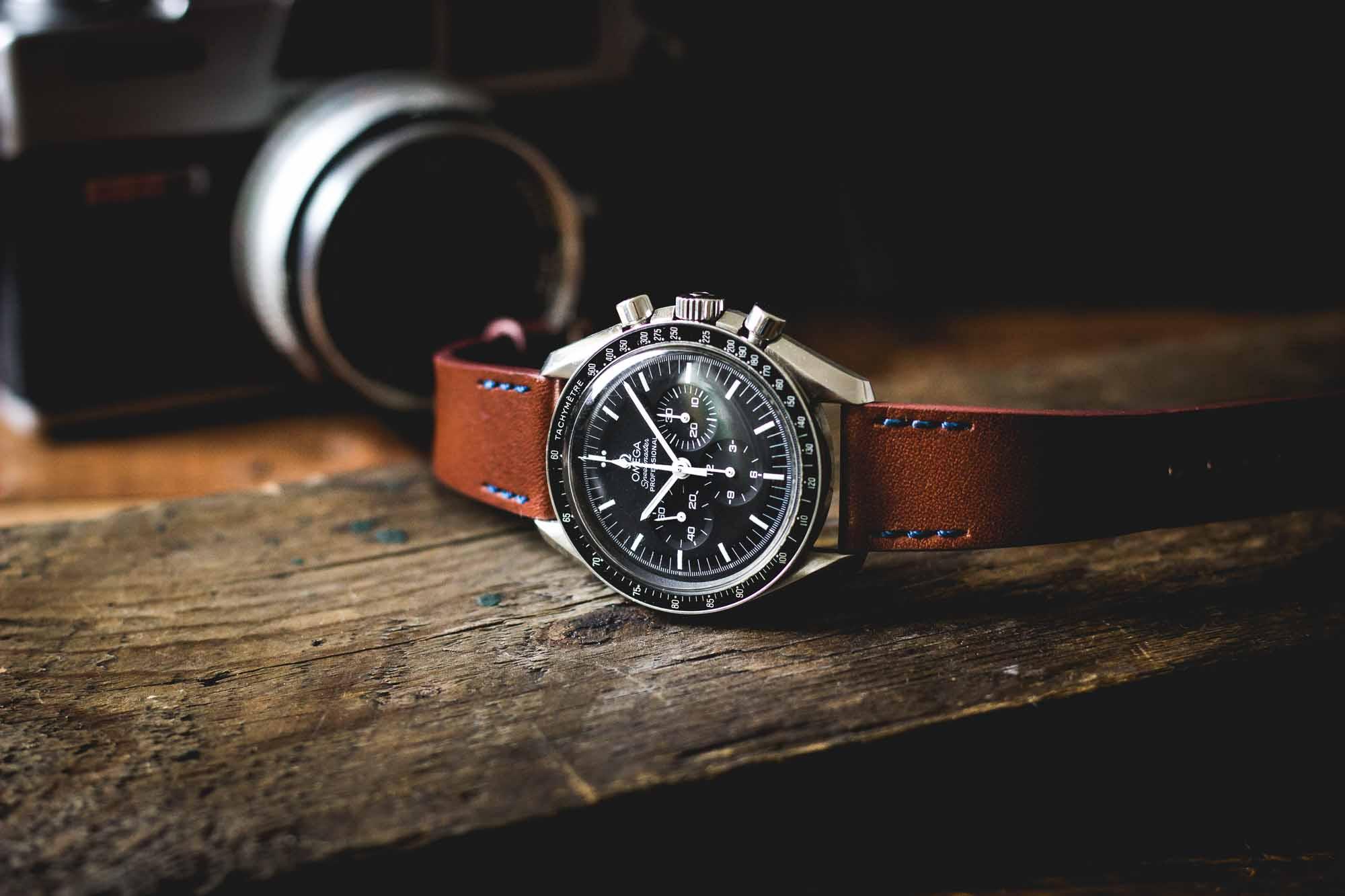 ZEIGR Uhrenarmband Omega Speedmaster Leder 20mm-9