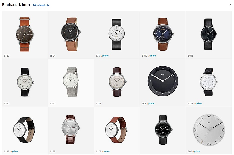 Bauhaus Uhren Tipps amazon