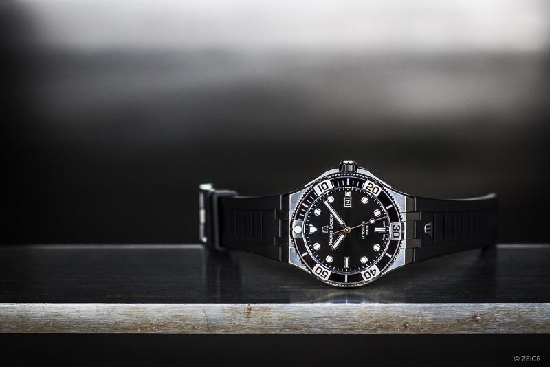 Neue Uhr Maurice Lacroix Aikon Venturer Schwarz Kautschukband