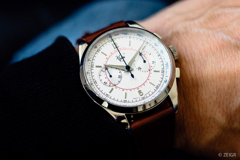 Wristshot - Weiße Uhr / Chronograph