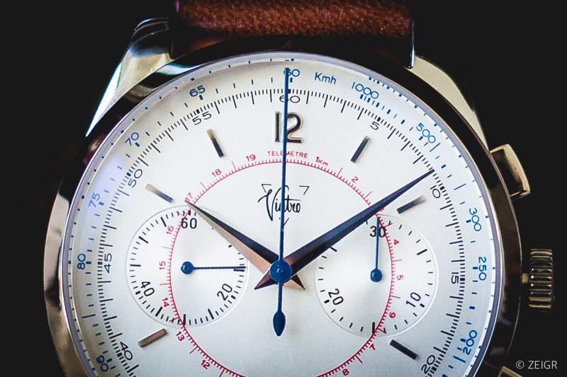 Vintro Chronograph mit Telemeter-Skala