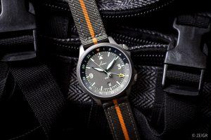 Laco Frankfurt GMT Textilband grau/orange