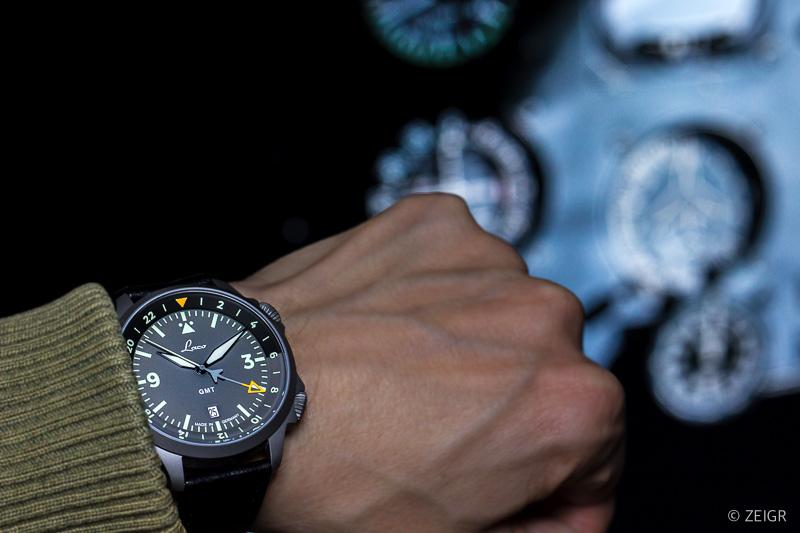 Laco Frankfurt GMT Fliegeruhr - Cockpit