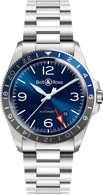 Bell & Ross BRV2-93-GMT_Blue-Steel-bracelet