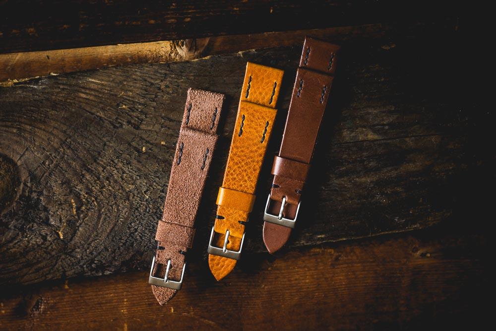 ZEIGR Lederbänder RAW 20 & 22 mm