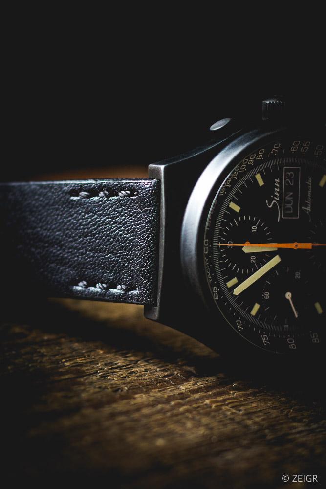 ZEIGR Strap - All Black Leder Uhrenarmband 20mm