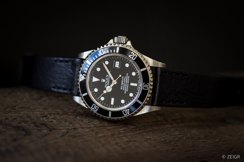 ZEIGR Vintage Lederband All Black x Rolex