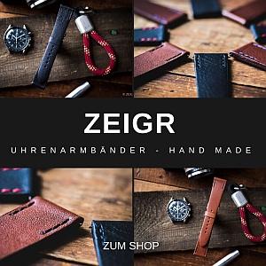 Uhrenarmband Leder Vintage 20 mm mit Schnellverschluss