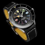 Superocean Heritage '57 Limited Edition with a black vintage-inspired leather strap