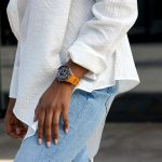 Superocean Heritage '57 Limited Edition with an orange Outerknown ECONYL® yarn NATO strap