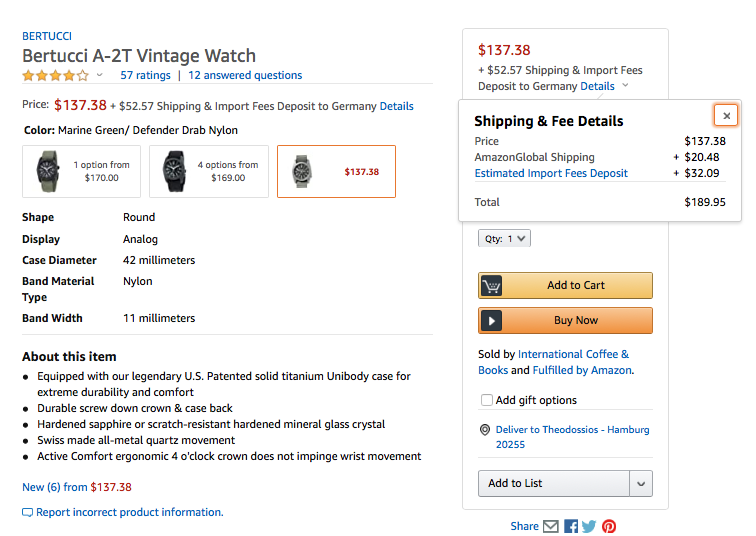 A-2T Vintage Watch - Microbrands amazon