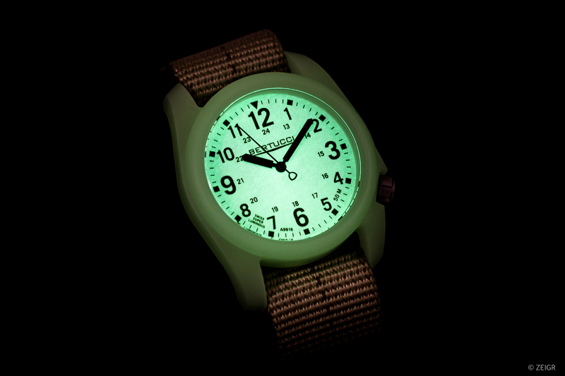 Bertucci DX3 Field Watch Lume Shot SuperLuminova