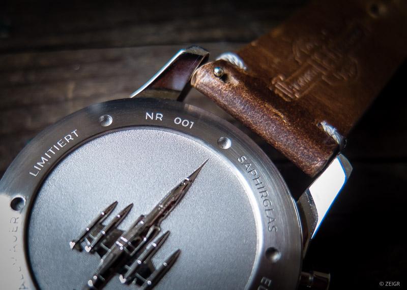 Vandaag Schallmauer Chronograph Test Hands-On Rückseite Gehäuseboden