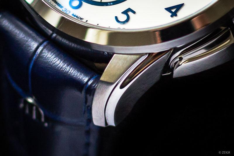 Uhren-Lederband blau Ref. PT6388-SS001-120-4