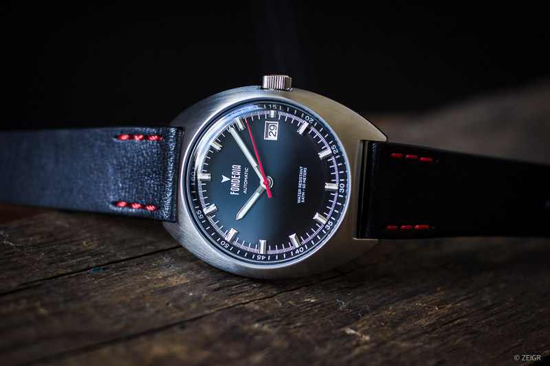 Geschenk-Tipps: Fonderia Lab - Tailedo Automatic x ZEIGR Uhrenarmband Leder Vintage Stil