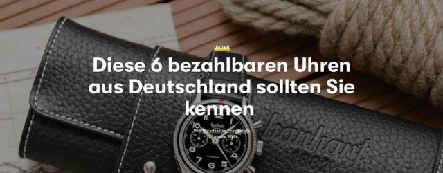 ZEIGR x GQ Magazin Deutschland Uhren-Tipps Theodossios Theodoridis