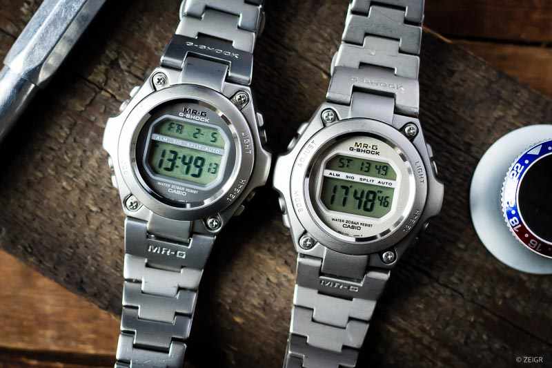 CASIO MR-G 100 Titan vs. Stahl G-Shock