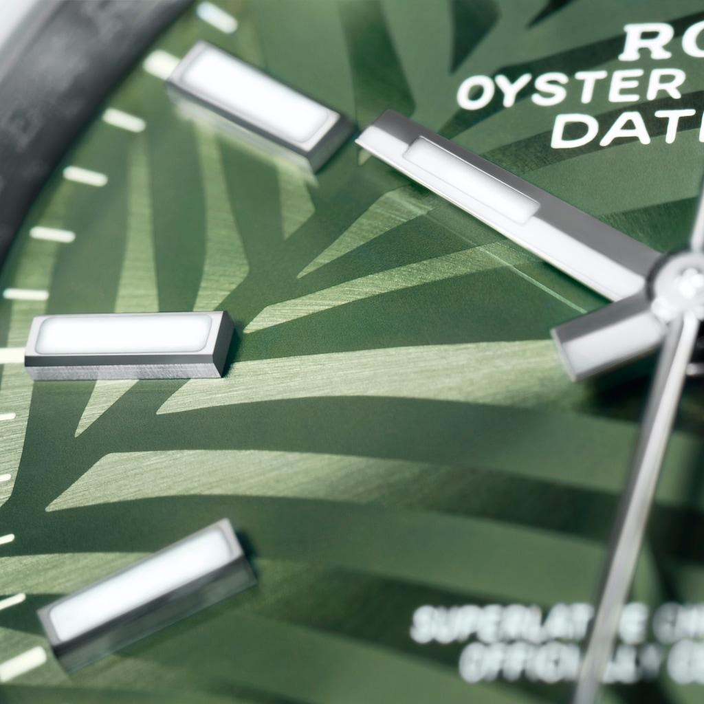 Datejust 36 2021 grün Palmenmuster