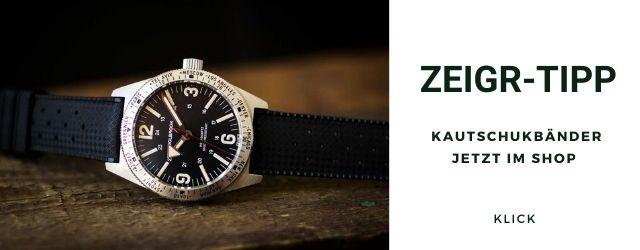 Uhrenarmband Kautschuk Schnellverschluss 20mm schwarz