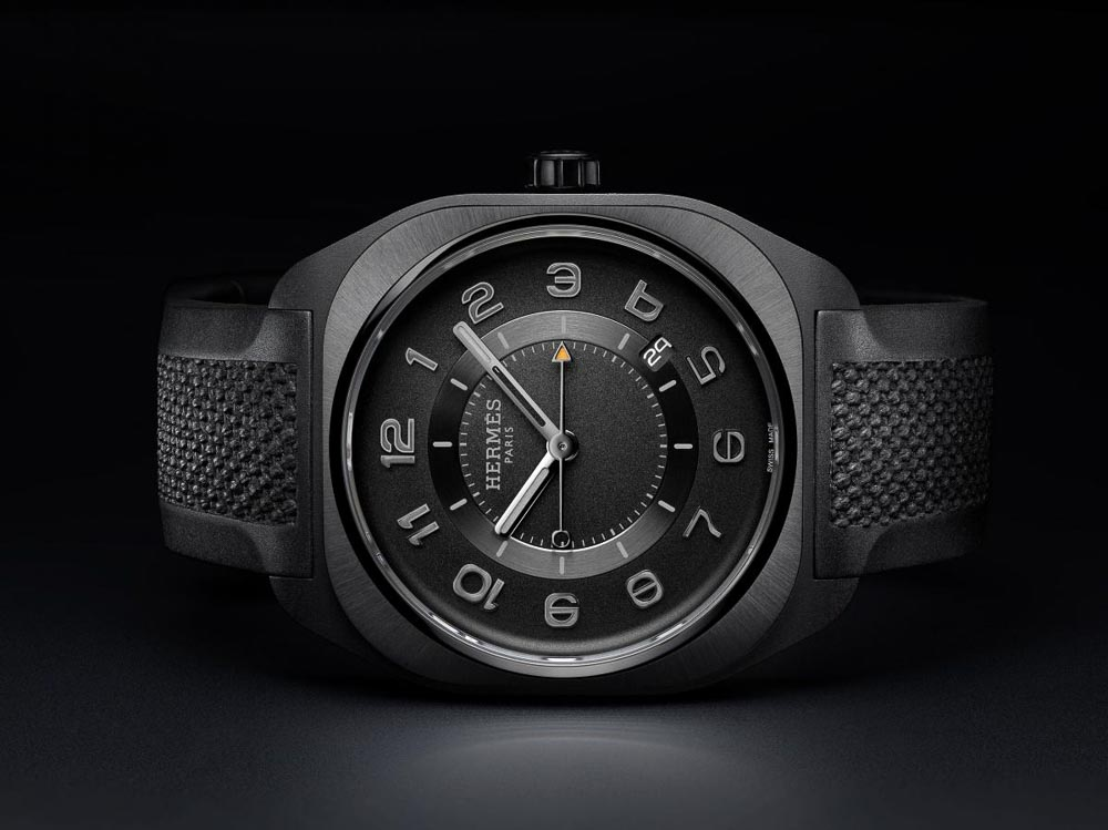 hermes-h08-graphene-black-rubber - Watches and Wonders 2021