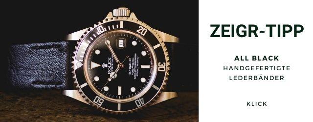 Rolex Lederarmband Submariner Sea-Dweller Vintage Herren 20mm