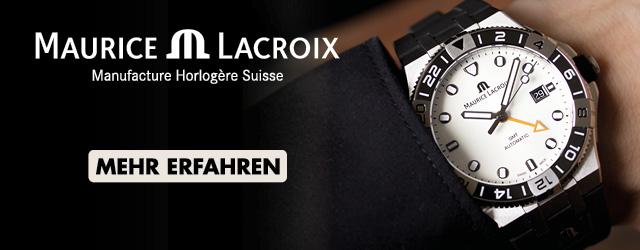 Maurice Lacroix Aikon GMT weißes Zifferblatt Kautschukband