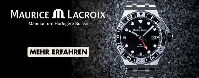 Maurice Lacroix Aikon GMT schwarzes Zifferblatt Stahlband