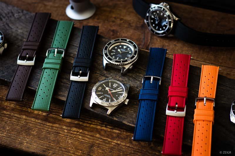 Kautschuk Uhrenarmbänder Farben Tropic RLX