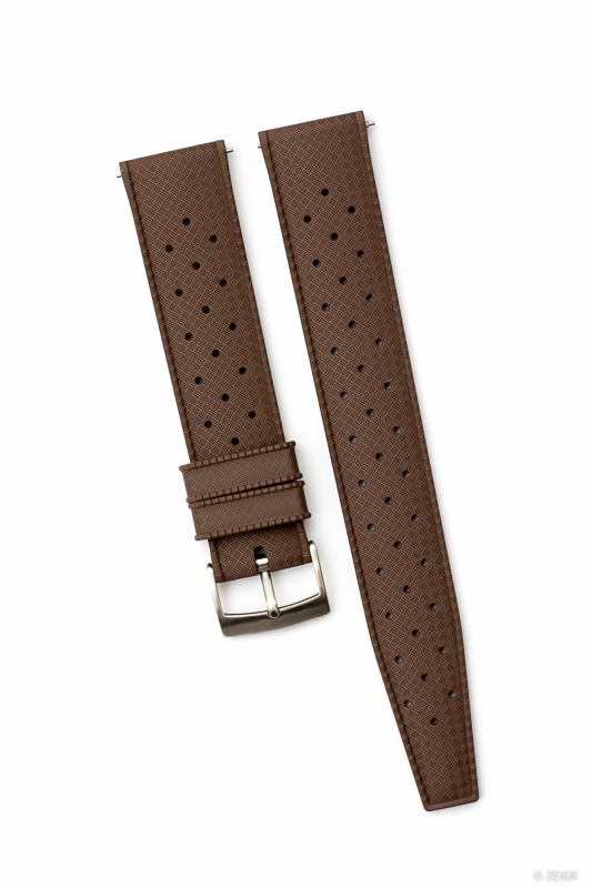 Kautschuk-Uhrenarmbänder Braun 20 mm Tropic Style