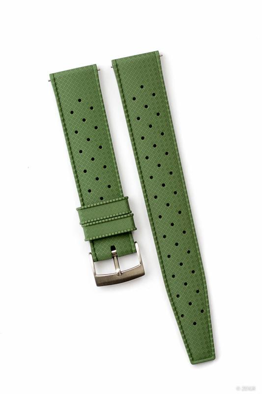 Kautschuk Uhrenarmband Grün Tropical