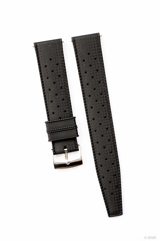 Kautschuk-Uhrenarmbänder Schwarz 20 mm Quick Release